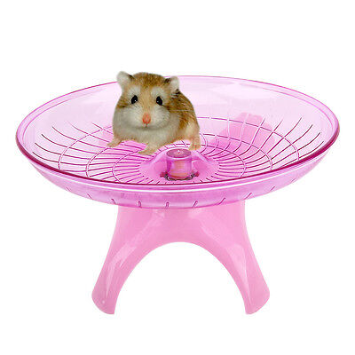 Souris Hamster Rat Exercice Courir Spinner Wheel Jouets pour Animaux Rose