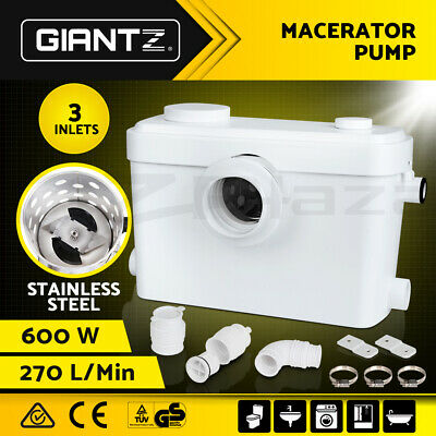 Giantz Macerator Sewerage Pump Waste Water Marine Toilet Disposal Unit Laundry