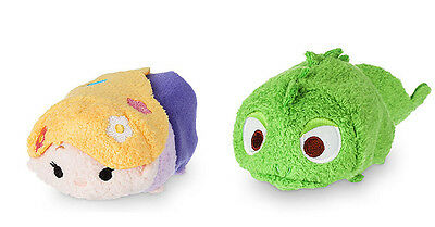 "Disney Tsum Tsum Rapunzel + Pascal from Tangled 3"" Plush Toys - NEW"
