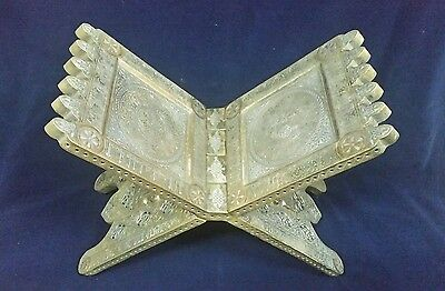 Rare Antique Style Islamic Brass Quran Book Holder.