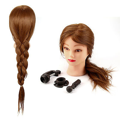 "26"" New Female Hairdressing Training Head Model Dummy Head Long Hair With Clamp"