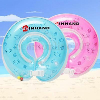 Baby Infant Swimming Pool Bath Neck Float Inflatable Ring Safety Aid 1-18 Month