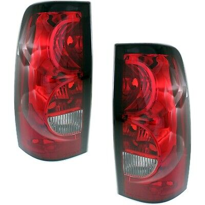 Halogen Tail Light Set For 2004-2006 Chevy Silverado 1500 Clear/Red Lens 2Pcs