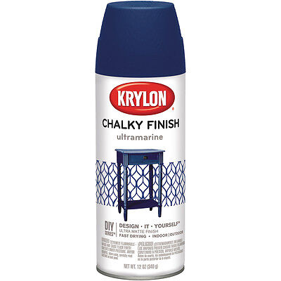 """Chalky Finish Aerosol Spray Paint 12oz-Ultramarine, Set Of 2"""