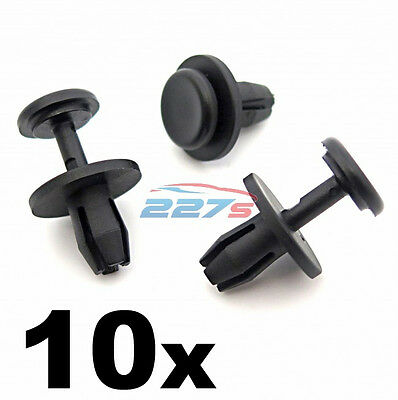10x Citroen 8mm Plastic Rivets- Wheel Arch Inner Liner Clips, Splashguard Clips