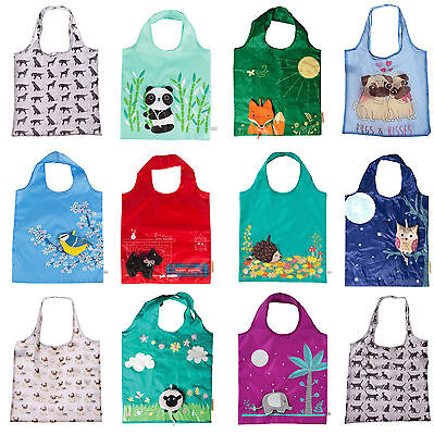 Reusable Foldable Ladies Shopping Bag Eco Animal Tote Handbag Fold Away Bag