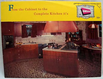 GREGG KITCHEN CABINETS AND REMODEL HOME IMPROVEMENT SALES BROCHURE 1950s VINTAGE