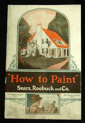 Sears Roebuck & Company How To Paint Advertising Brochure Guide 1928 Vintage