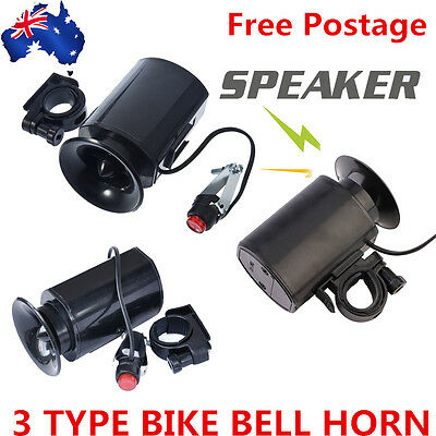 Bicycle Bike Cycling Ultra Loud Bell Horn Alarm Siren Speaker Electronic Ring DS