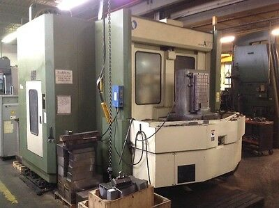 "Used Makino A-77 Cnc Horizontal Mill 1998 Tsc Fanuc 25"" Plts 18000 Rpm"