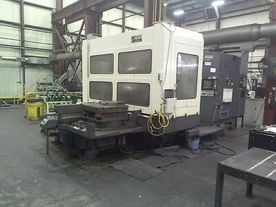 "Used Makino Mcb-1210 Cnc Horizontal Mill 1985 Fanuc 31"" Pallets Cat 50 Hmc Cheap"