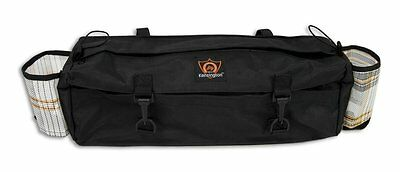 English Or Western Horse Black Saddle Cantle Bag With 2 Water Bottle Pockets