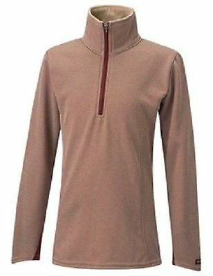 CLOSEOUT Kerrits Kid's Check Fleece Half Zip Sienna Small Retail $49