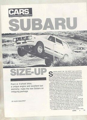 1976 Subaru 4WD Roadtest Brochure my6412
