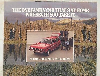 1978 Subaru 4WD Station Wagon Brochure my6417