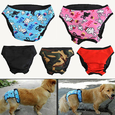 Reusable Washable Dog Diaper Breeds Physiological Pants Female Big Dogs L-XL Hot