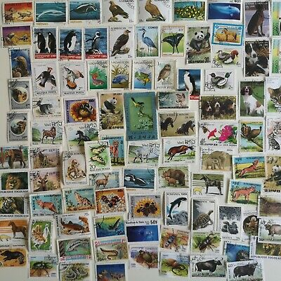 2000 Different Animals on Stamps Collection