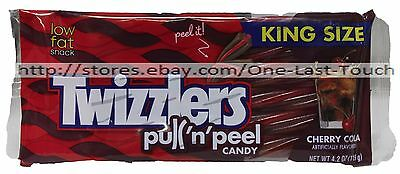 TWIZZLERS 4.2 oz Bag CHERRY COLA Pull 'n Peel KING SIZE Licorice Candy Ex 2/17