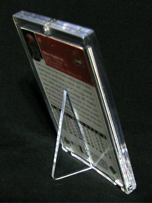 """RIGID 1/4"""" THICK Baseball TRADING CARD Holder w/ STAND - FREE SHIPPING"""
