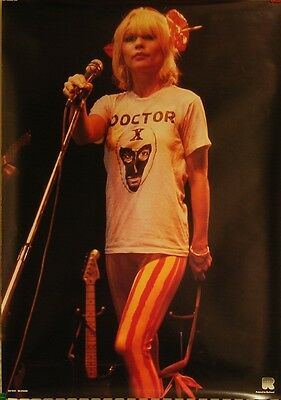 Blondie/Debbie Harry-ORIGINAL1970's Rock On Poster-Famous Doctor X Shirt Photo!