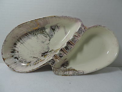 Vintage 1957 Lane & Co. Van Nuys Pink Gold Grey and White Ashtray  #652
