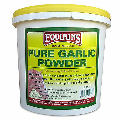 Equimins Pure Garlic Powder for Horses Tub Refill Natural Nutrition Supplement