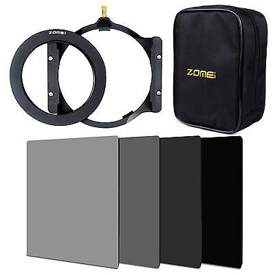 ZOMEI 4x6in.ND2+ND4+ND8+ND16 Filter+77mm Ring+Holder+16 Slot Bag for Cokin Z LEE
