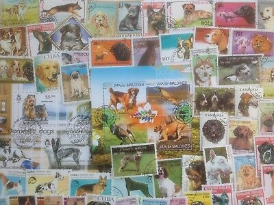 300 Different Dogs on Stamps Collection