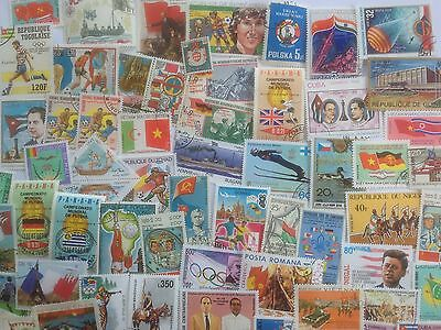 300 Different Flags on Stamps Collection