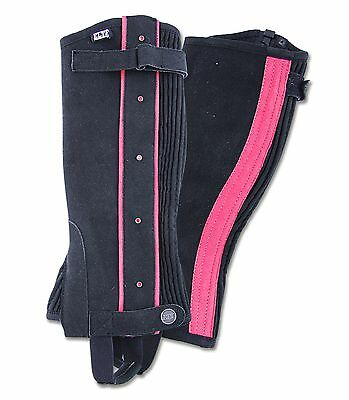 Elt Mini Chaps Kids Black with Pink Application Small