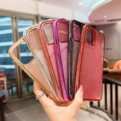 Bling Diamond Slim Soft TPU Clear Case Cover For iPhone XS Max XR X 8 7 6s Plus
