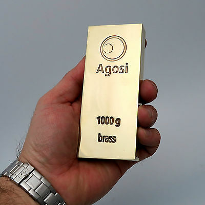 1 Kg 1000 Gramm Agosi Messingbarren Messing Brass Anlage Investment Metalle