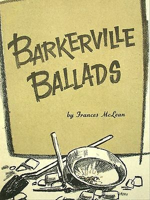 Barkerville Ballads Frances McLean Signed Prospecting Songbook 1965 Gold Mining