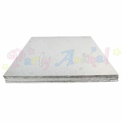 5 Pack Cake Boards Thin Strong Hardboard Round and Square - Wedding Celebration