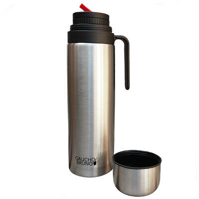 T36 Stainless Steel Flask With Iconic Red Spout (Pico Cebador) For Yerba Mate