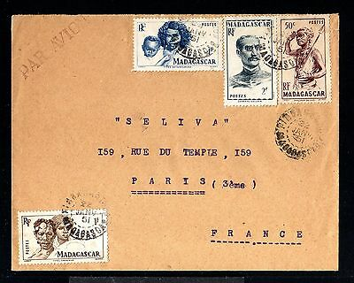 11997-MADAGASCAR-AIRMAIL COVER FIANARANTSOA to PARIS(france)1951.FRENCH colonies