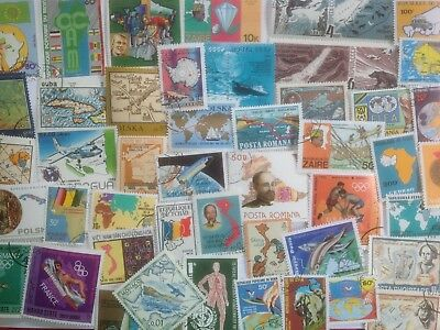 200 Different Maps on Stamps Collection