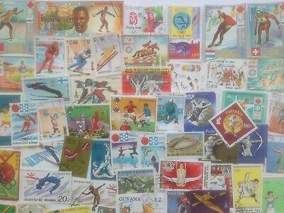 1000 Different Olympics on Stamps Collection