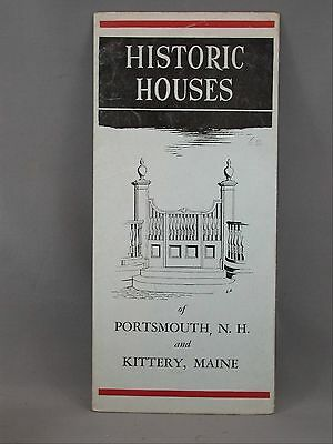 Historic Houses Portsmouth NH Kittery Maine ME Illustrated Street Map Brochure