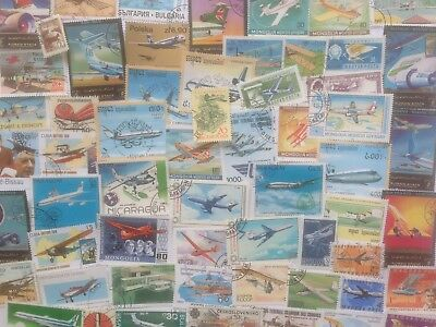 1000 Different Planes/Aircraft/Aviation on Stamps Collection