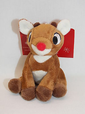 Rudolph The Red Nose Reindeer Soft Christmas Tree Ornament 4 In tall  New w/tags