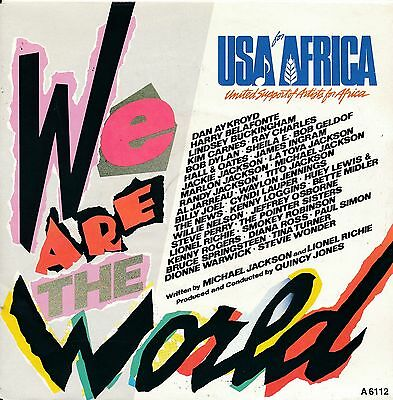 """We Are The World - USA For Africa - Single 7"""" Vinyl 67/01"""