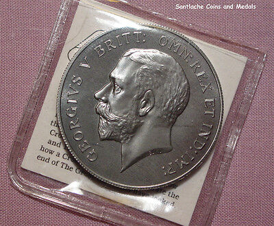 1918 KING GEORGE V PATTERN CROWN - Polished Steel with COA