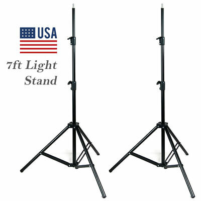 2x 7ft Light Stand Tripod Photography Lighting Studio Boom Umbrella Softbox