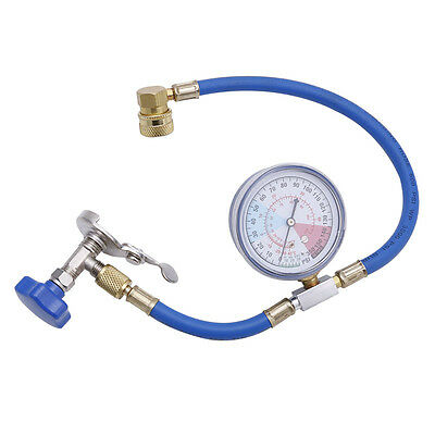 New R134A Air Conditioning Recharge Measuring Hose Gauge Valve Refrigerant Pipe