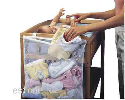 Baby Crib Cot Bed Bedside Hanging Storage Bag Diaper Nappy Clothes Organizer