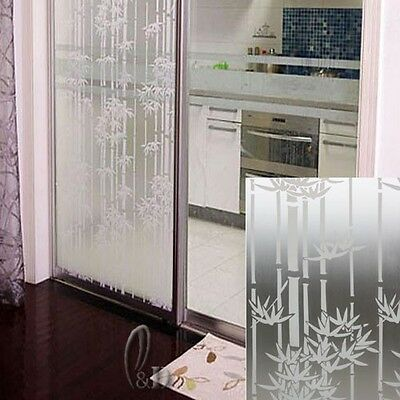 92cm x1m Bamboo Privacy Frosted Frosting Removable Glass Window Film c1055