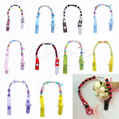 pacifier soother dummy clip holder string strap Clip chain Holder New