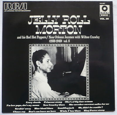 JELLY ROLL MORTON - 1930-1940 - frz. LP   Serie Black & White Vol. 86