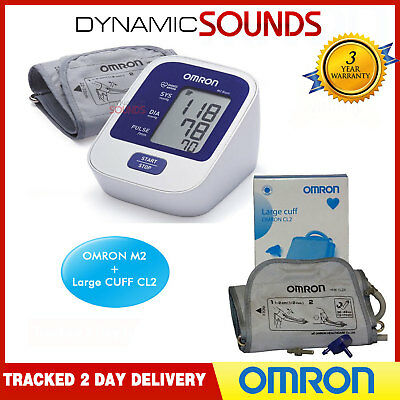 OMRON M2 Basic Upper Arm Digital Blood Pressure Monitor Plus Large CUFF CL2